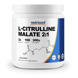 L-цитруллин малат, L-Citrulline Malate 2:1, Nutricost, порошок,  300 грамм