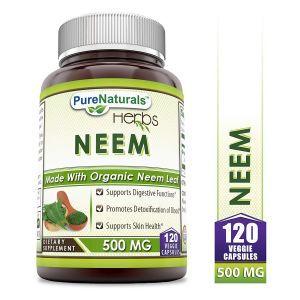 Ним, Neem, Pure Naturals, 500 мг, 120 вегетарианских капсул