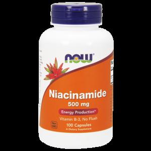 Ниацинамид, витамин В-3, (Niacinamide), Now Foods, 500 мг, 100 ка