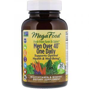 Витамины для мужчин 40+, Men One Daily, MegaFood, без железа, 1 в день, 30 таблеток (Default)