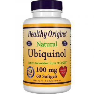 Убихинол коэнзим CoQ10, Healthy Origins, 100 мг, 60 капсул (Default)