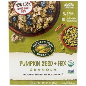 Гранола с тыквой и льном, Granola Cereal, органик, Nature's Path, 325 г (Default