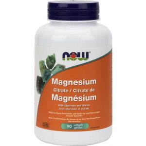 Магний цитрат, Magnesium Citrate, Now Foods, 134 мг, 90 гелевых капсул