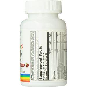 Мультивитамины для детей, Children's Vitamins and Minerals, Solaray, вкус вишни, 60 жевательных таблеток