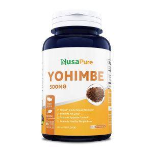 Йохимбе, кора, Yohimbe, NusaPure, 500 мг, 200 капсул