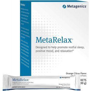 Магний, поддержка мышц и нервной системы, MetaRelax, Metagenics, вкус апельсина, 30 пакетов (9,9 г)