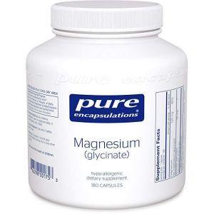 Магній гліцинат, Magnesium (glycinate), Pure Encapsulations, 180 капсул