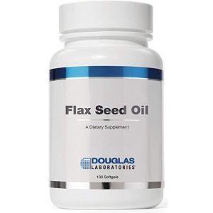Семена льна масло, Flax Seed Oil, Douglas Laboratories, 100 капсул