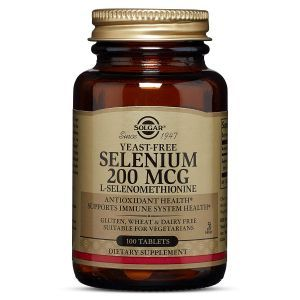 Селен, Selenium 200 mcg Yeast Free, Solgar, 200 мкг, 100 таблеток (Default)
