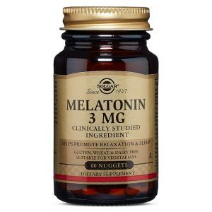 Мелатонин, Melatonin, Solgar, 3 мг, 60 таблеток