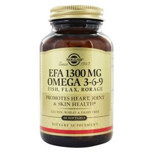 Рыбий жир, Омега 3-6-9 (EFA, Omega 3-6-9), Solgar, 1300 мг, 60 капсул (Default)