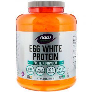 сохранён. Протеин белковый, Sports, Egg White Protein Powder, Now Foods, 2268 г