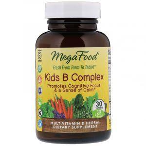 Витамин В, комплекс для детей, Kid's B Complex, MegaFood, 30 таблеток (Default)