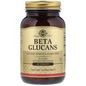 Бета глюкан, Beta Glucans, Solgar, 60 таблеток (Default)