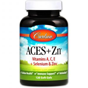 Витамины А, С, Е плюс цинк, Aces + Zn, Carlson Labs, 120 капсул