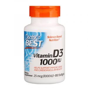 Витамин Д3, Vitamin D3, Doctor's Best, 1000 МЕ, 180 капсул (Default)