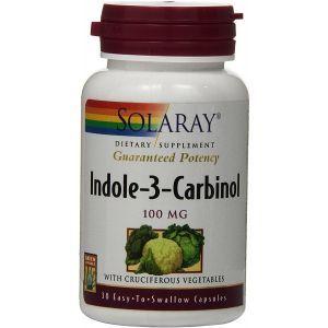 Индол-3-карбинол, поддержка баланса эстрогена, Indole-3-Carbinol, Solaray, 100 мг, для женщин, 30 вегетарианских капсул