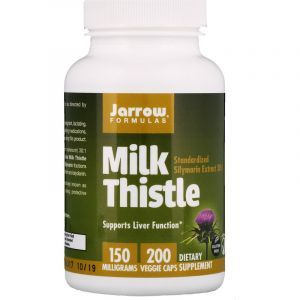 Расторопша (Milk Thistle), Jarrow Formulas, 150 мг, 200 капсул (Default)