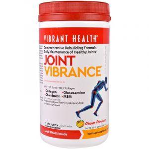 Пищевая добавка «Сила суставов», со вкусом апельсина и ананаса, Joint Vibrance, Vibrant Health, 367 г (Default)