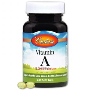 Витамин А, Carlson Labs, 240 гелевых капсу