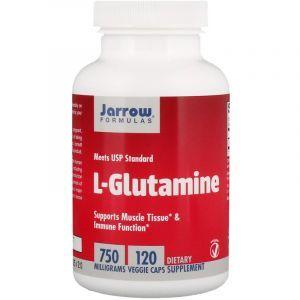 Глютамин, L-Glutamine, Jarrow Formulas, 750 мг, 120 капсул (Default)