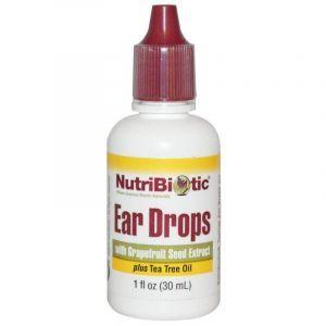 Капли для ушей, Ear Drops, NutriBiotic, 30 мл