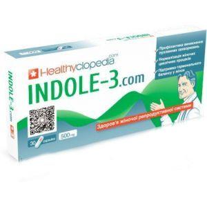 Индол-3, Indole-3, Healthyclopedia, 500 мг, 30 капсул
