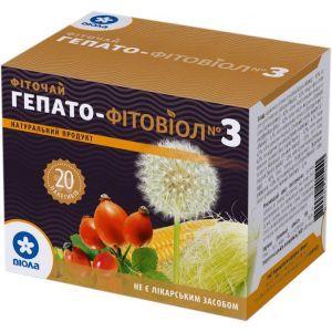 Гепато - Фітовіол №3, фіточай, Віола, 20 пакетиків по 1,5 г