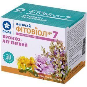 Бронхо - легочный Фитовиол №7, фиточай, Виола, 20 пакетиков по 1.5 г