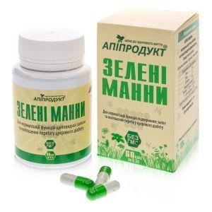 Зелені манни, Green manna, Апіпродукт, 60 таблеток.