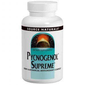 Пикногенол Сьюприм, Source Naturals, 60 таблеток
