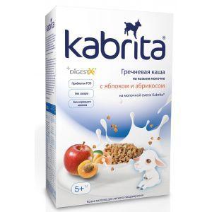 Гречневая каша на основе козьего молока с яблоком и абрикосом, Kabrita, для детей от 5 месяцев, 180 г