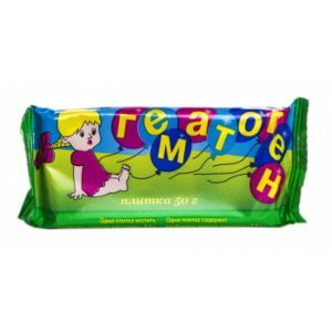Гематоген, Натур + ООО, плитка, 50 г