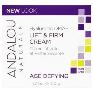 Крем для особи, Andalou Naturals, з гіалуроновою кислотою, (50 мл)