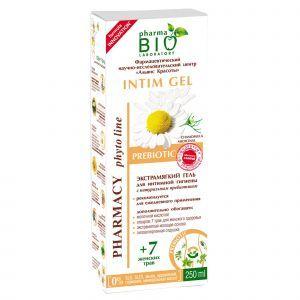 Экстрамягкий гель для интимной гигиены с натуральным пребиотиком, Pharma Bio Laboratory, 250 мл