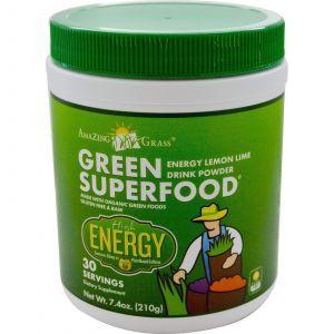 Зеленая пища (лимон), Энергия, Amazing Grass, 210