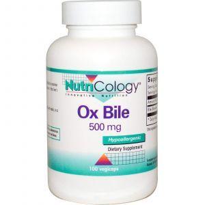 Экстракт бычьей желчи, Nutricology, 500 мг, 100 кап