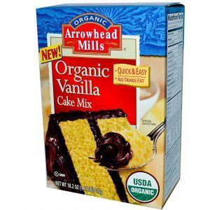Смесь для приготовления ванильного торта, Cake Mix, без глютена, Arrowhead Mills, 517 г