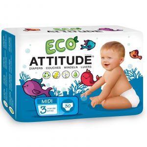 Детские подгузники (5-11кг), Diapers, ATTITUDE, 30 шт