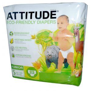 Детские подгузники (12 кг), Diapers, ATTITUDE, 22 шт