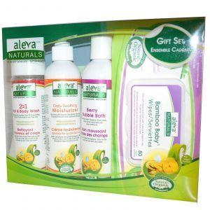 Подарочный набор для новорожденных, Aleva Naturals, 4 шт.