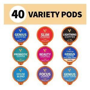 """Набір кави в капсулах """"Різноманітні бестселери"""", Best Seller Coffee Pods Variety Pack, VitaCup, 40 капсул"""
