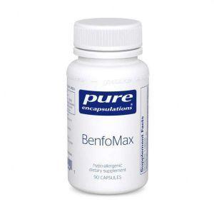 Бенфотіамін, BenfoMax, Pure Encapsulations, для підтримки здорового метаболізму глюкози і здоров'я клітин нирок, 90 капсул
