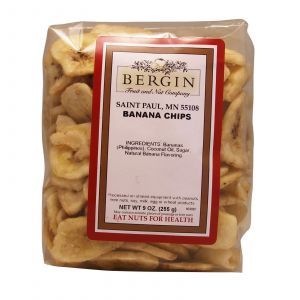 Банановые чипсы, Banana Chips, Bergin Fruit and Nut Company, 255 г