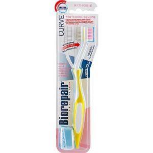 """Зубная щетка детская """"Совершенная чистка"""", мягкая, желтая, юниор, Curve, yellow, junior, Biorepair"""