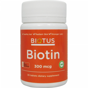 Биотин, Biotin, Biotus, 300 мкг, 30 таблеток