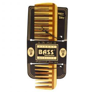 Деревянный гребень с широкими зубьями, Bass Brushes,  1 шт