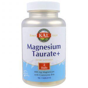 Таурат магния +, Magnesium Taurate+, 400 мг, 90 таб