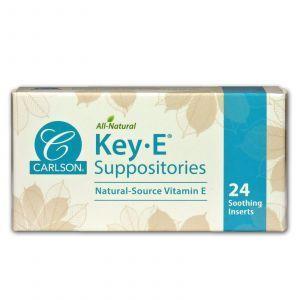 Геморой, свічки з вітаміном Е, Key • E Suppositories, Carlson Labs, 24 шт.