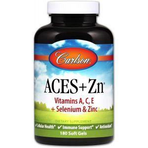 Витамины А, С, Е плюс цинк, Aces + Zn, Carlson Labs, 180 капсул